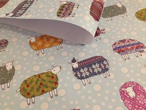 Christmas Sheep Wrapping Paper