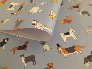 Dog Pattern Wrapping Paper