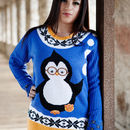 Women's Perry Penguin Christmas Jumper