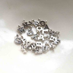 Small Silver Letter Charm