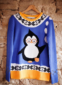 Men's Perry Penguin Christmas Jumper