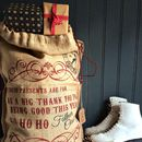 'These Presents Are For' Santa Gift Sack