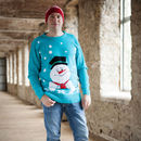 Men's Frosty Snowman Christmas Jumper