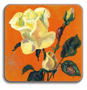 Yellow Rose Table Mat - dining room