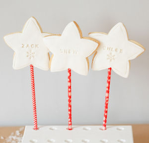 Personalised Christmas Cookie Pops - biscuits and cookies