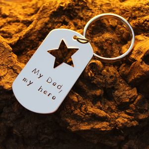 'My Dad, My Hero' Keyring - last minute father's day gifts