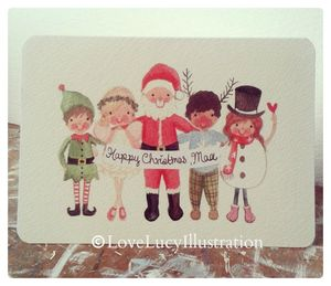 Personalised Christmas Group Card - cards