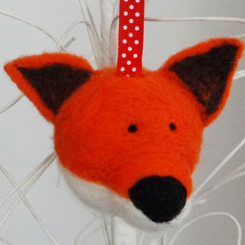 Hand Felted Fox Bauble