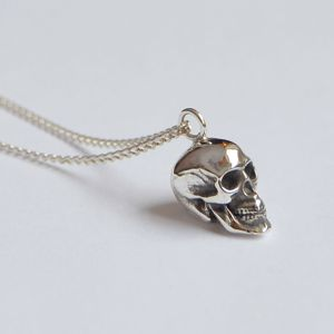 Silver Skull Pendant - necklaces