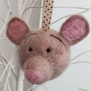 Hand Felted Mouse Bauble