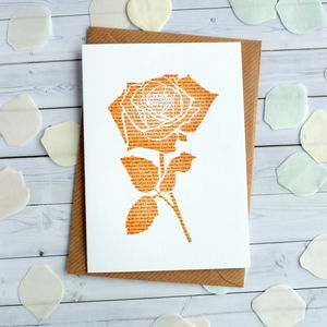 Romeo And Juliet Rose Anniversary Card
