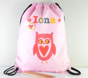 Girls Personalised Swim Bag Various Designs - under £25