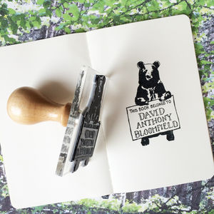 Personalised Bear 'Book Belongs To' Stamp