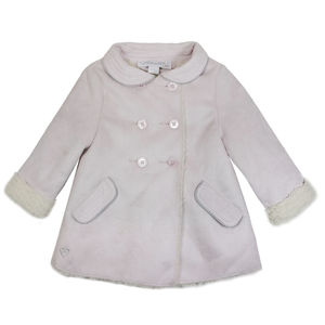 Girls French Faux Suede Dress Coat