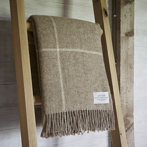 Pure Wool Brown Throw - blankets & throws