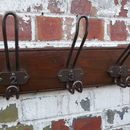 Row Of Ten Industrial Hooks