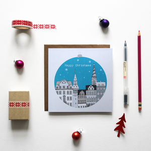Copenhagen Christmas Cards Pack Of 10 - cards & wrap