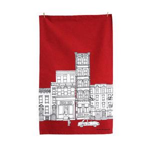 New York Skyline Screen Printed Tea Towel - kitchen linen