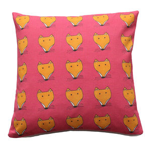 Fox Face Pink Cushion - cushions