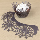 12 Halloween Spider Web Cupcake Wrappers
