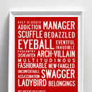 20 Words We Owe To Shakespeare Quote Print