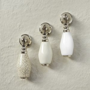 Ceramic Cream White Cabinet Drop Pull - home accessories