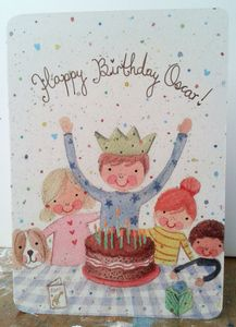 Personalised Boy's Birthday Card