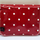Oilcloth Folding Wash Bag Red And White Spot