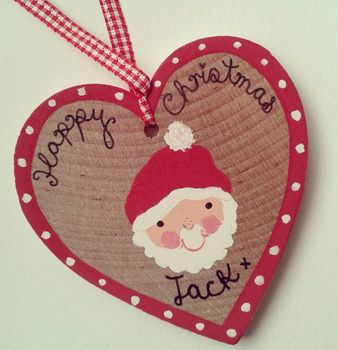 Personalised Christmas Heart Decoration/Tag