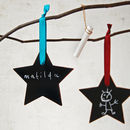 Wooden Blackboard Star Decoration