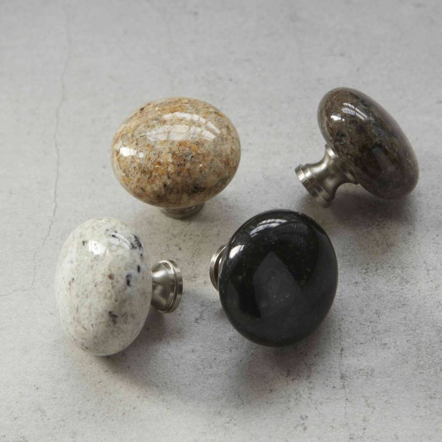 granite natural stone cupboard door knobs by pushka home ...
