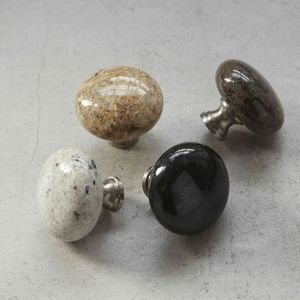 Granite Natural Stone Kitchen Cupboard Door Drawer Knob - door knobs & handles