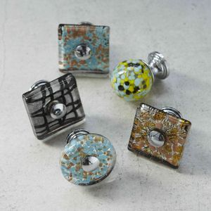 Murano Glass Cupboard Door Knob