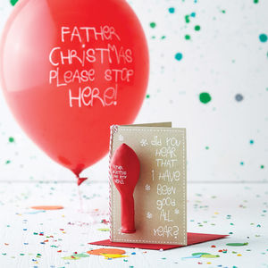 'Please Stop Here!' Balloon Christmas Card