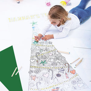 Personalised Colour In Christmas Tree Poster - christmas eve box ideas