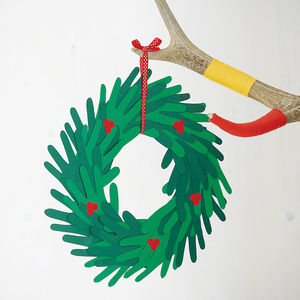 Make Your Own Paper Handprint Wreath - wreaths