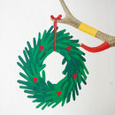 Make Your Own Paper Handprint Wreath