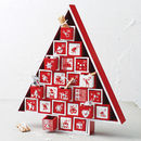 Wooden Nordic Advent Tree Calendar