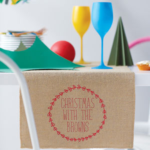 Personalised Christmas Table Runner - table linen