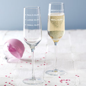 Personalised Measures Champagne Flute - tableware