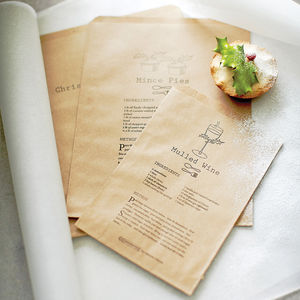 Set Of 40 Christmas Recipe Paper Bags - our black friday sale picks