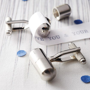 Secret Message Cufflinks - for fathers