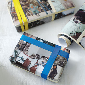 Personalised Photo Wrapping Paper - ribbon & wrap