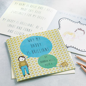 Personalised 'Why My Daddy Is Brilliant' Gift Book - gifts for storytellers