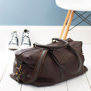 Anthony Handmade Leather Weekend Holdall - personalised