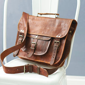 Vintage Style Leather Satchel - gifts for her