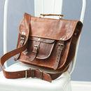Vintage Style Leather Satchel
