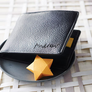 Personalised Men's Leather Billfold Wallet - men's accessories