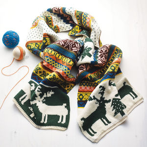 Christmas Jumper Style Woolly Scarf - scarves