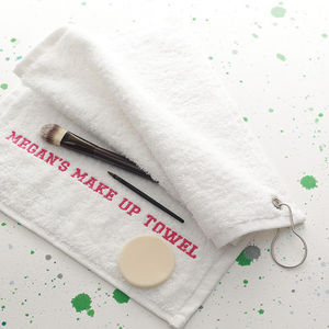 Personalised Women's Make Up Towel - gifts under £25 for her